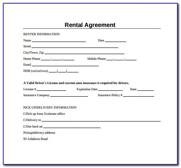 Sample Lease Agreement Document