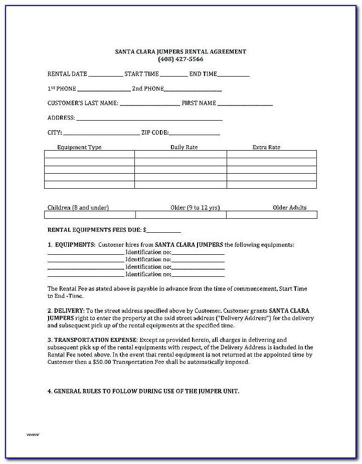 Sample Lease Agreement Template Ireland