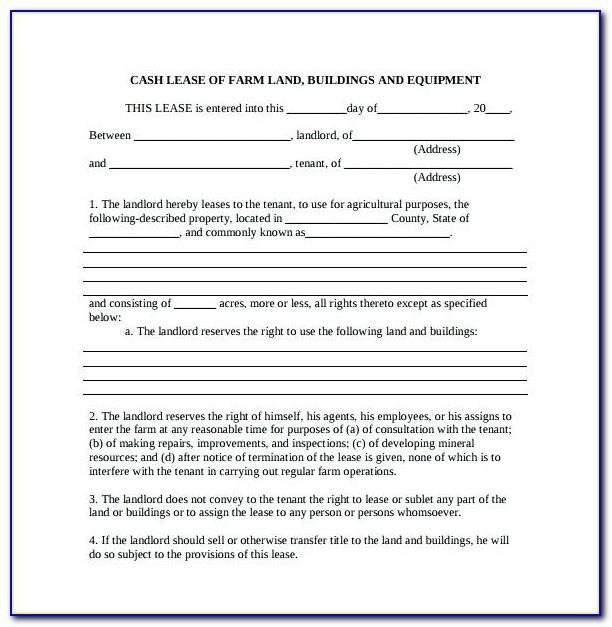 Sample Lease Agreement With Option To Purchase