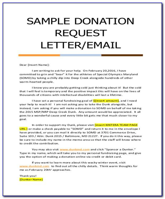 Sample Letter Asking For Donations To Church