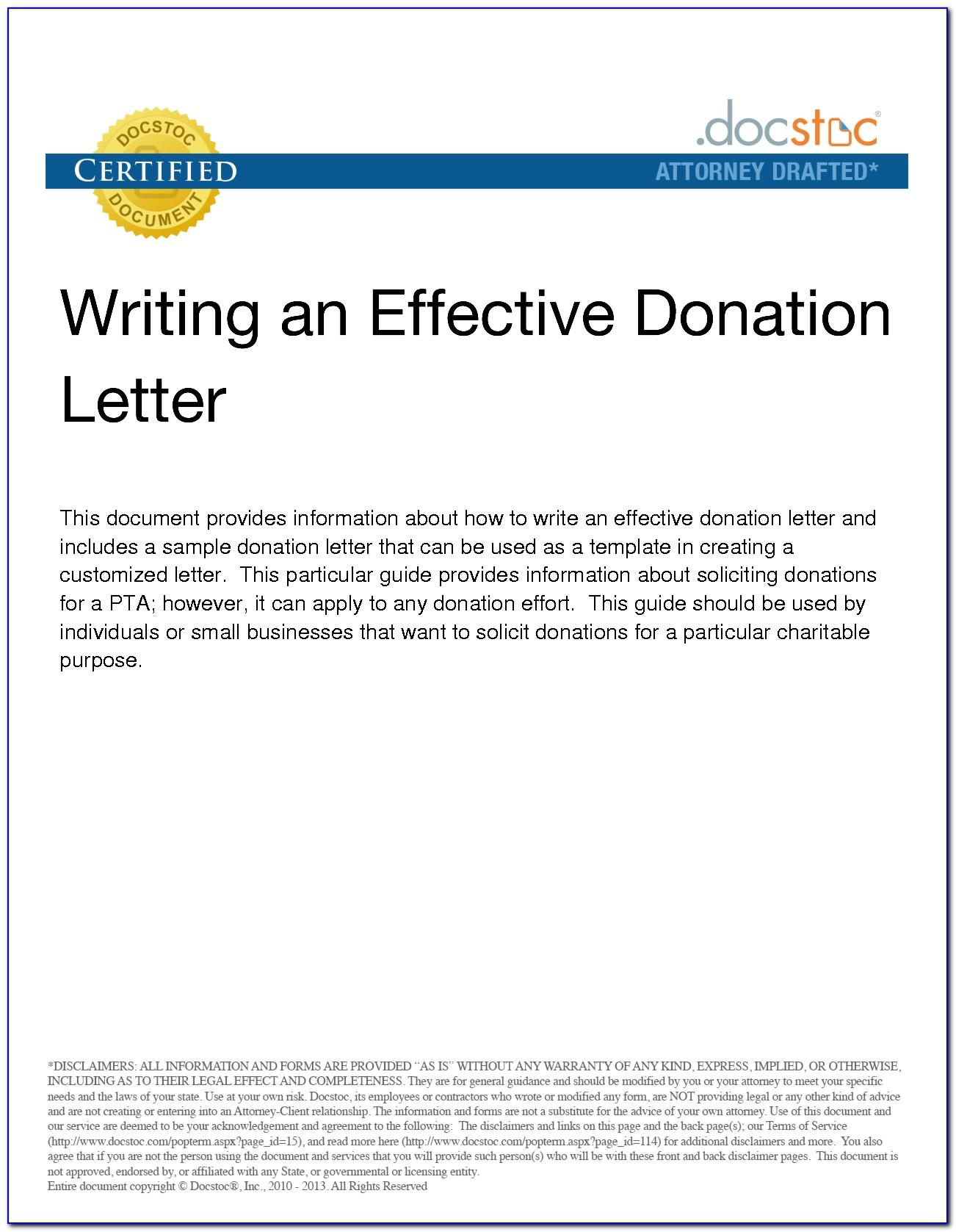 Sample Letters Asking For Donations Pdf