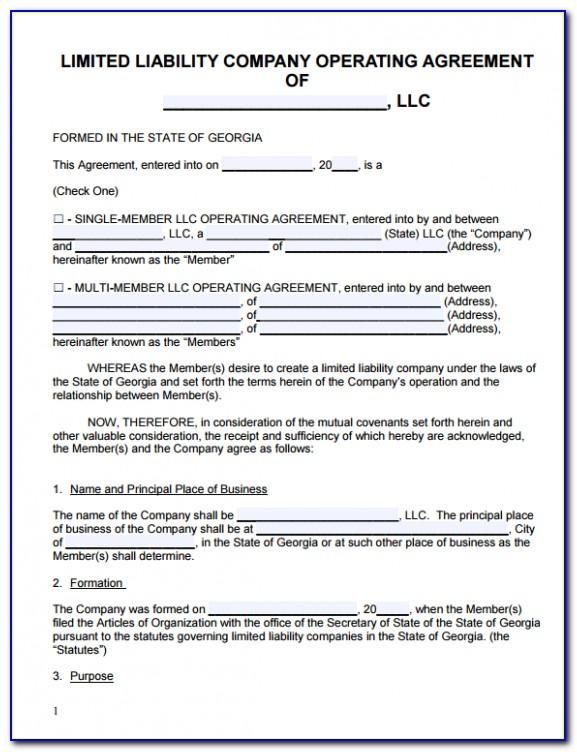 Sample Llc Operating Agreement New Jersey
