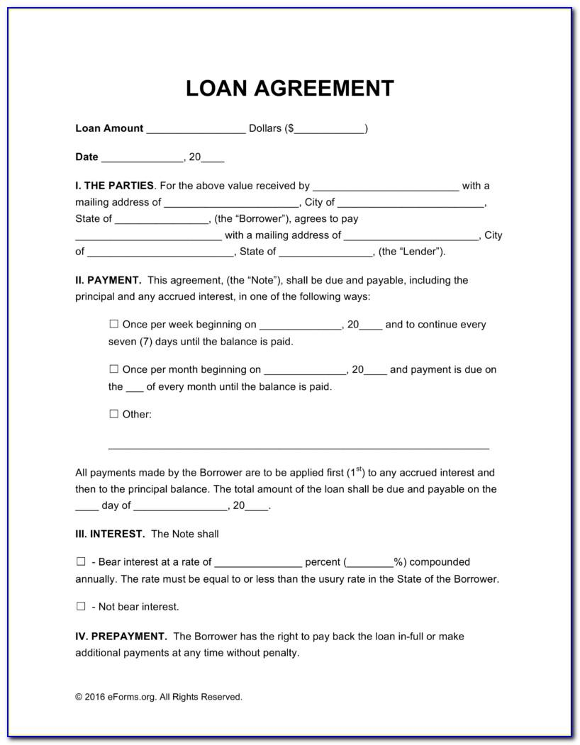 Sample Loan Document Templates