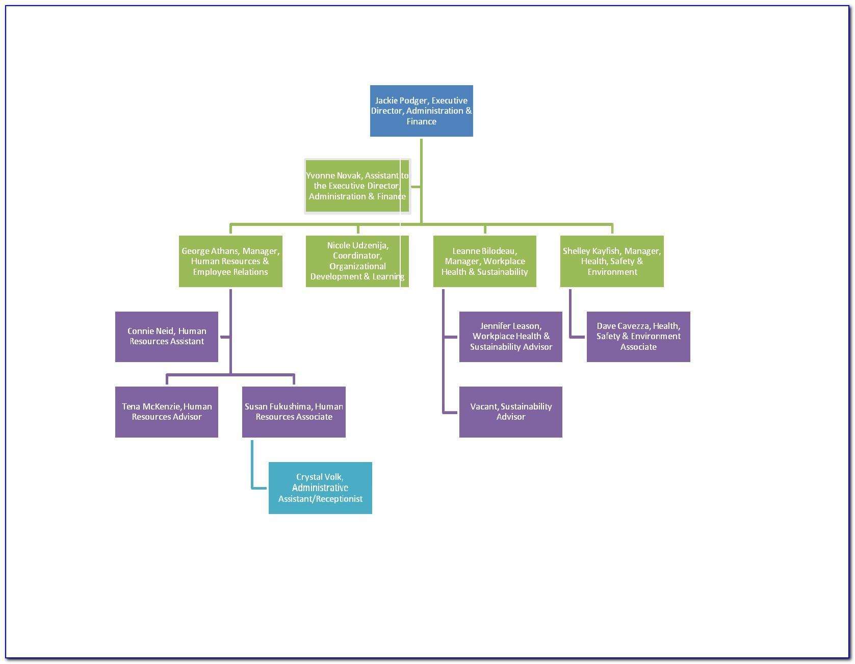 Sample Matrix Org Chart Template