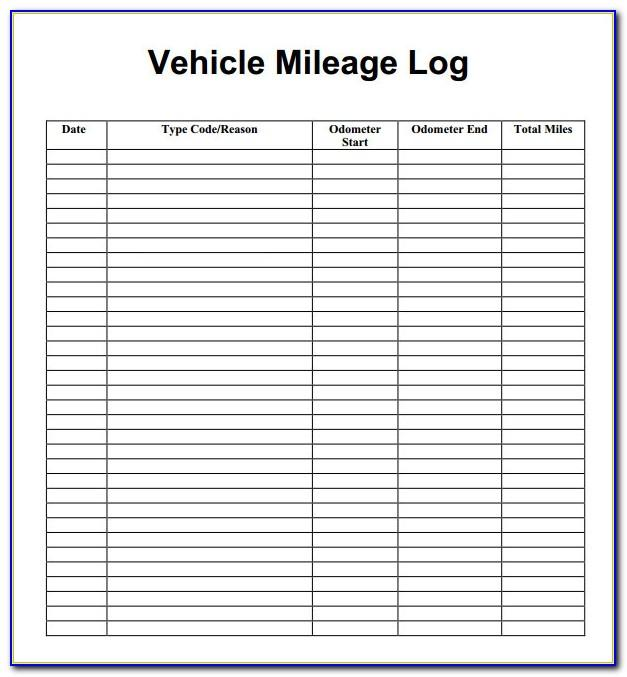 Sample Mileage Log For Cra