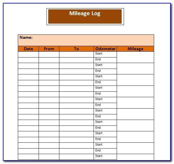 Sample Mileage Log Irs