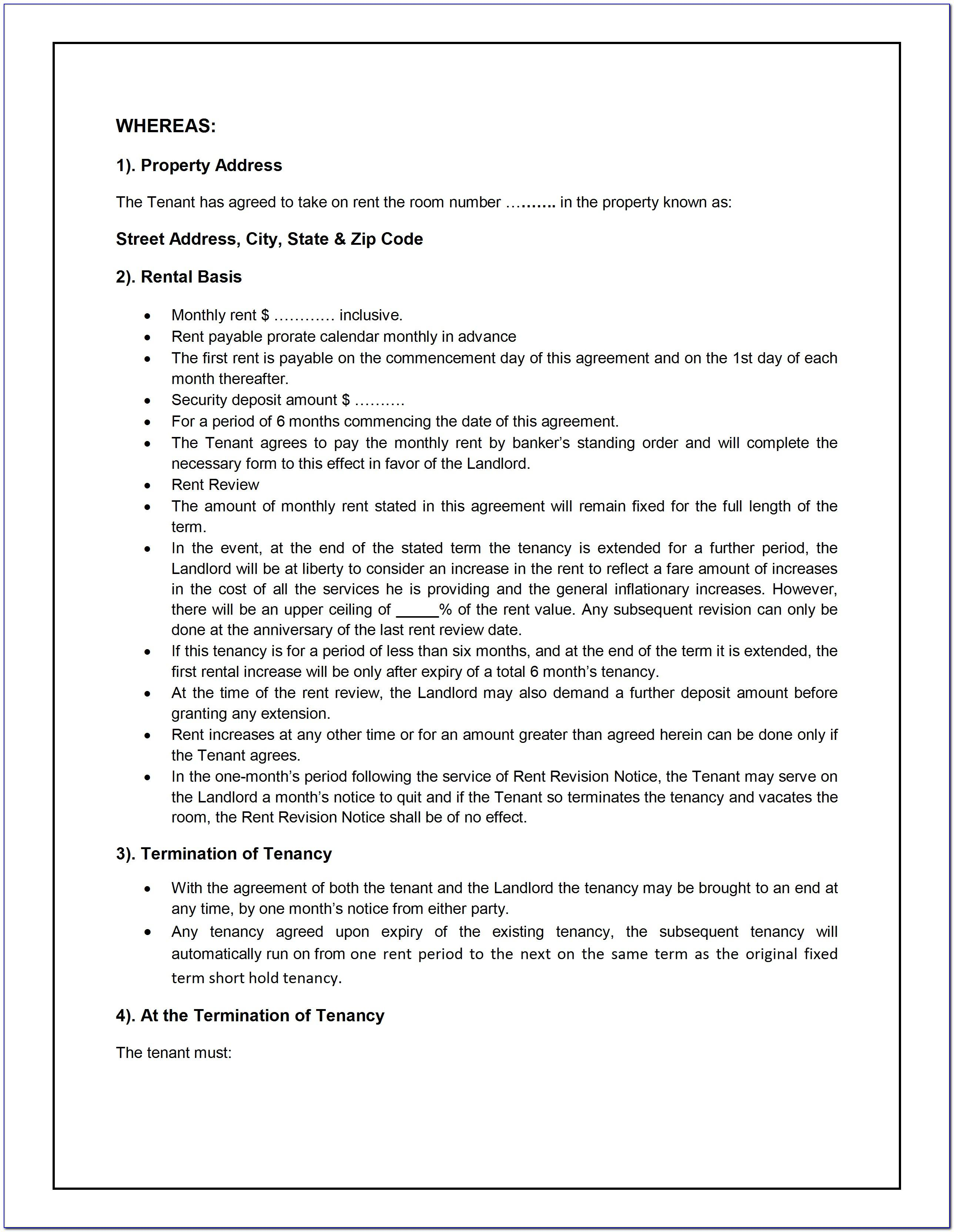 Sample Of Lease Agreement In Nigeria