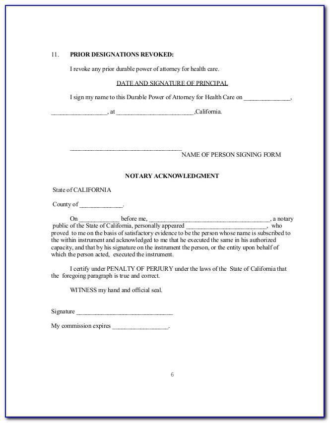 Sample Power Of Attorney Form Texas