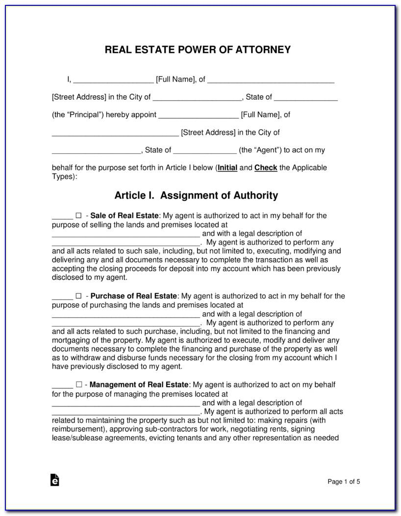 Sample Power Of Attorney Letter Child