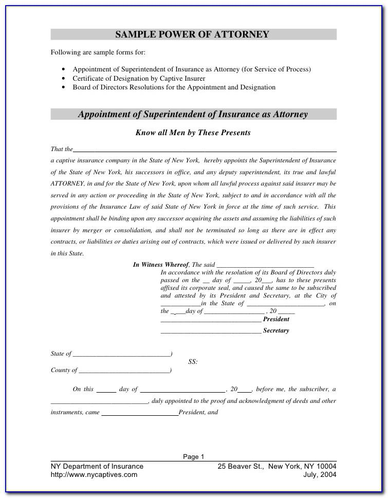 Sample Power Of Attorney Letter To Bank