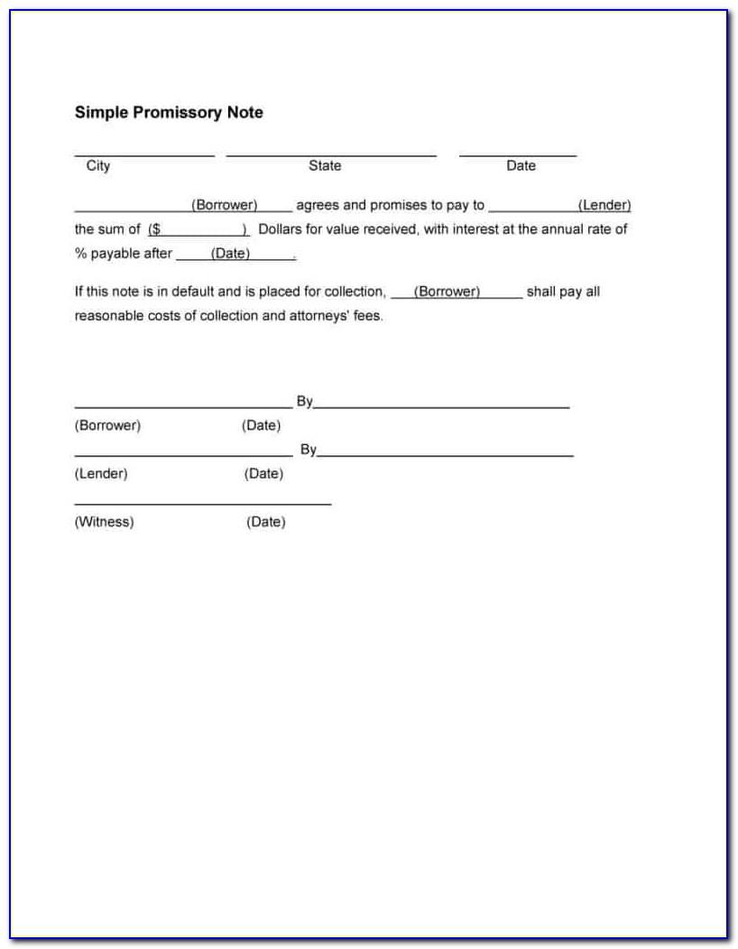 Sample Promissory Note Format India