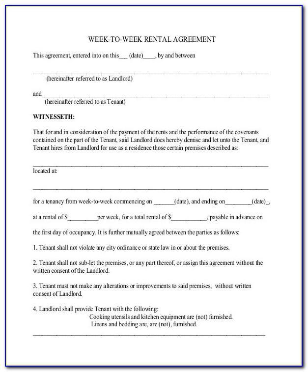 Sample Rental Agreement Document