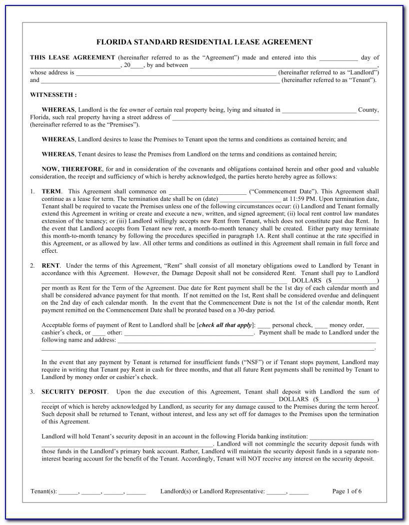Sample Residential Lease Agreement Texas