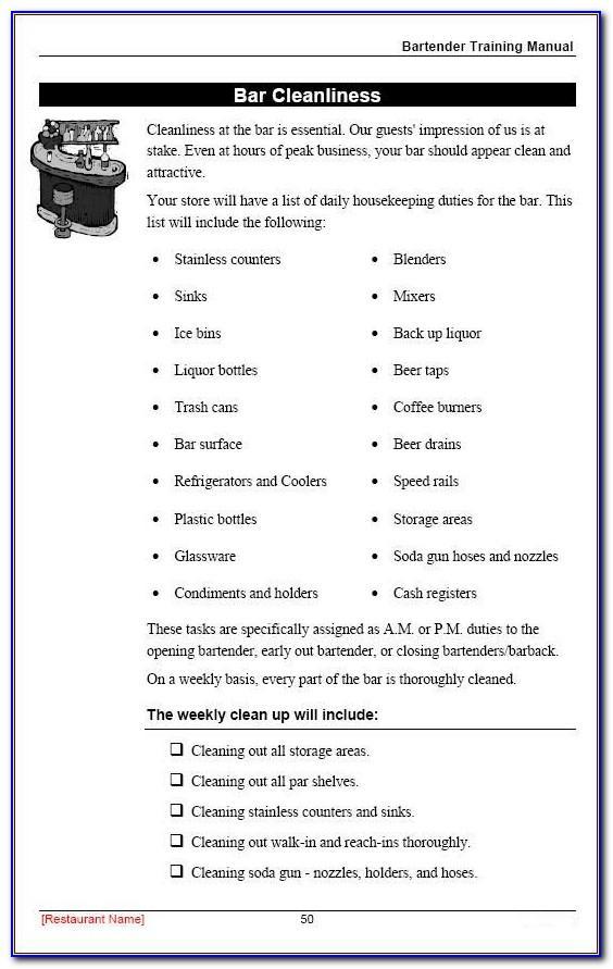 Sample Restaurant Employee Handbook Template
