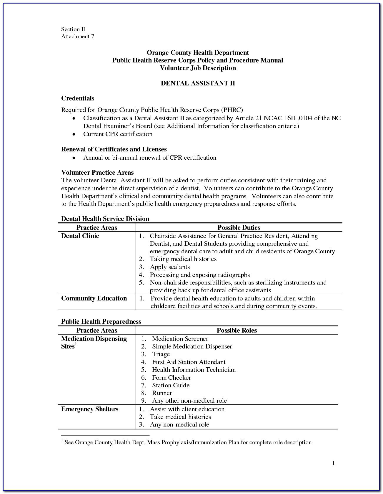 Sample Resume Dental Assistant Objective