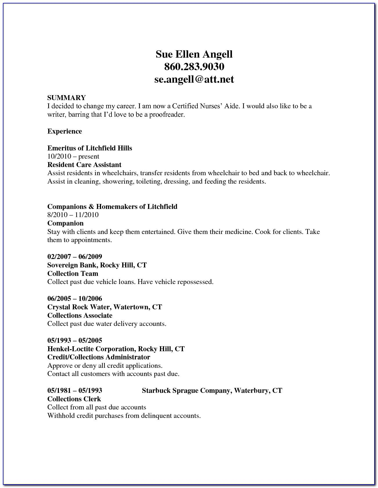 Sample Resume For School Bus Driver Position