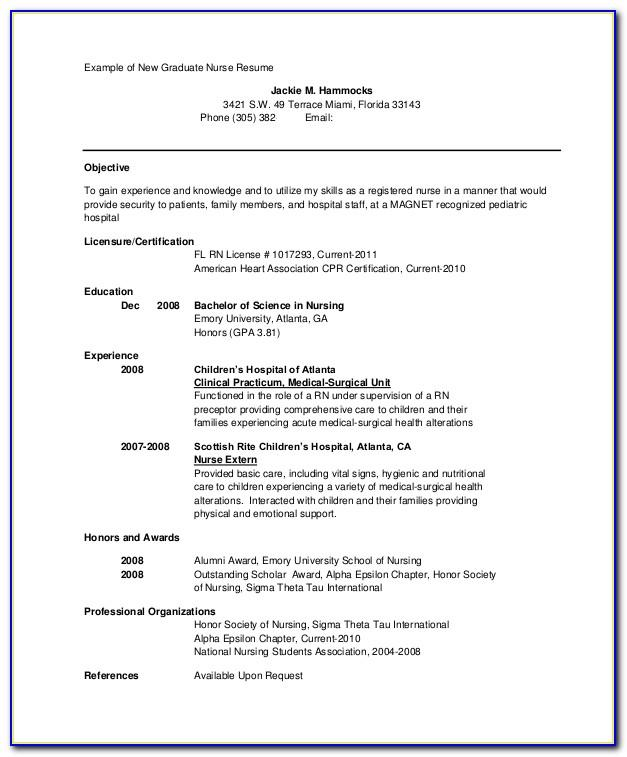 Sample Resume Respiratory Therapist New Grad