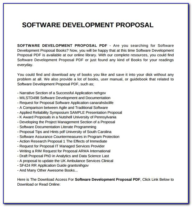 Sample Rfp For Software Testing Project