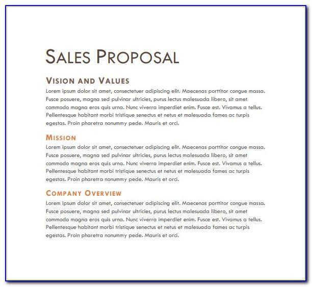 Sample Sales Proposal Letter Pdf