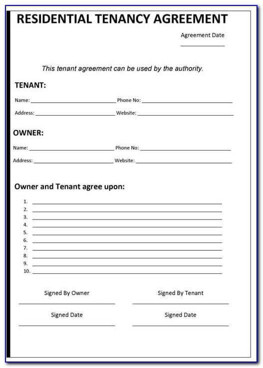 Sample Template Of Lease Contract