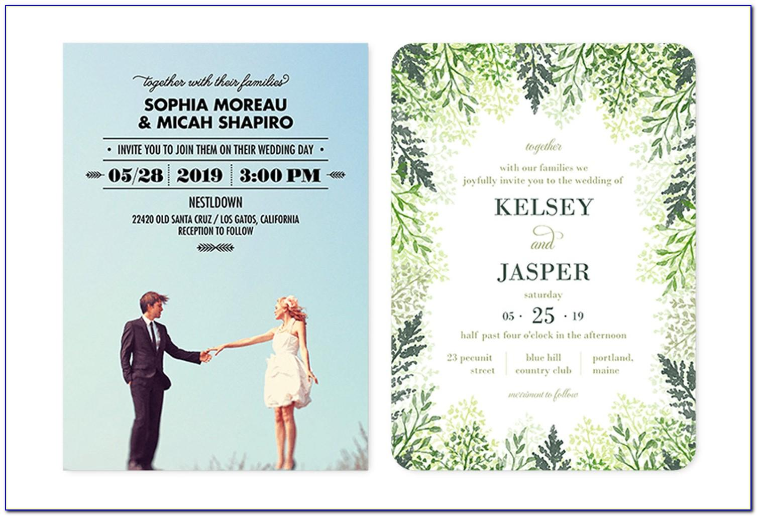 Sample Wedding Invitation Designs