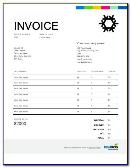Simple Invoice Template For Word Free