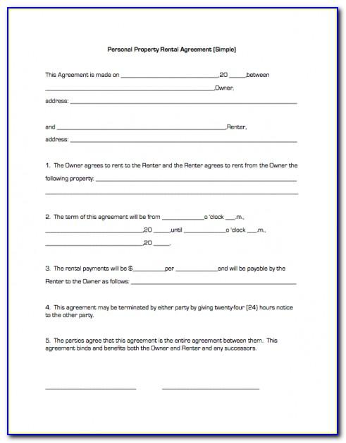 Simple Lease Agreement Document