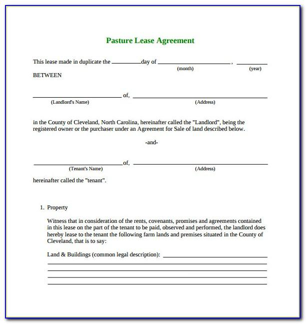 Simple Lease Agreement For Commercial Property