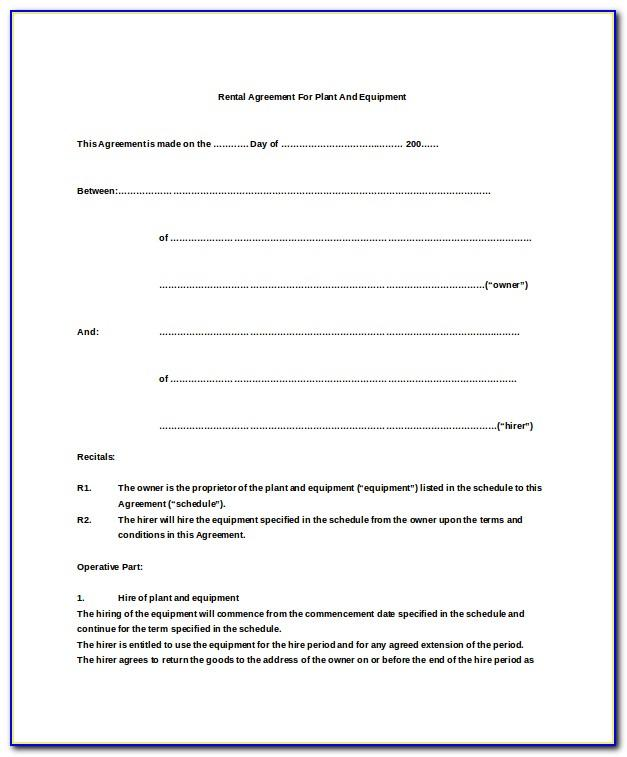 Simple Lease Agreement Ireland
