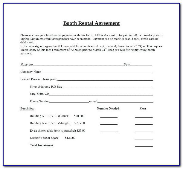 Simple Lease Agreement Word