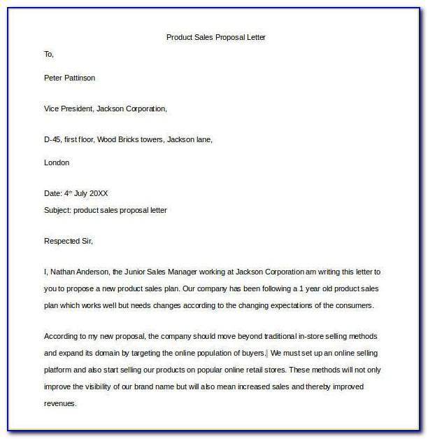 Software Sales Proposal Sample Letter
