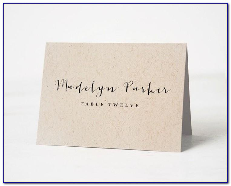 Template For Name Cards For Table Settings