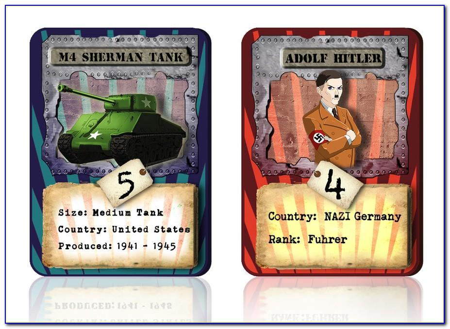 Trading Card Design Template