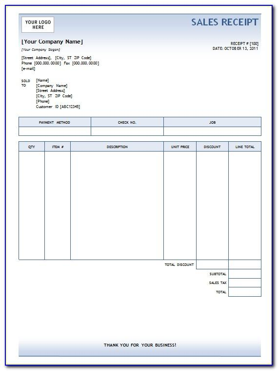 Used Caravan Sales Receipt Template Uk