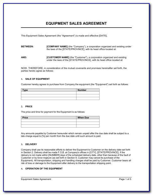 Vehicle Sale Contract Template Australia