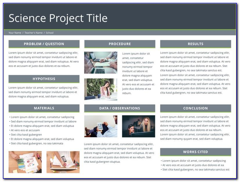 A4 Size Research Poster Templates Free Download