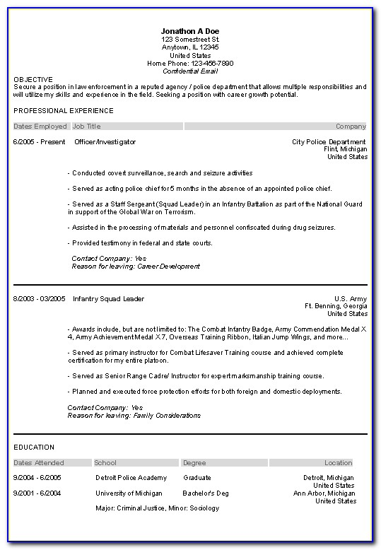 Best Resume Format For Law Student