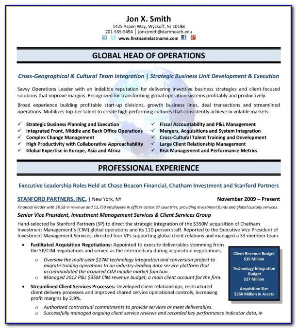 Best Resume Template For Sales Manager