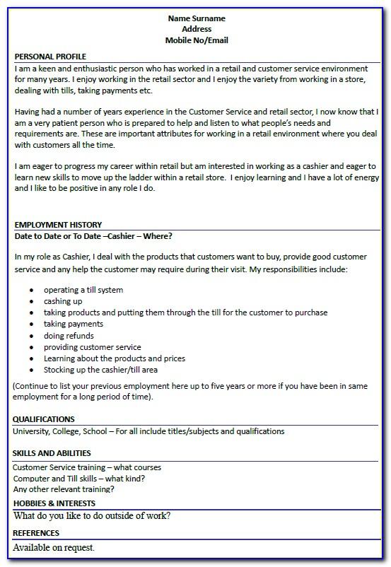 Best Resume Templates For Bartenders