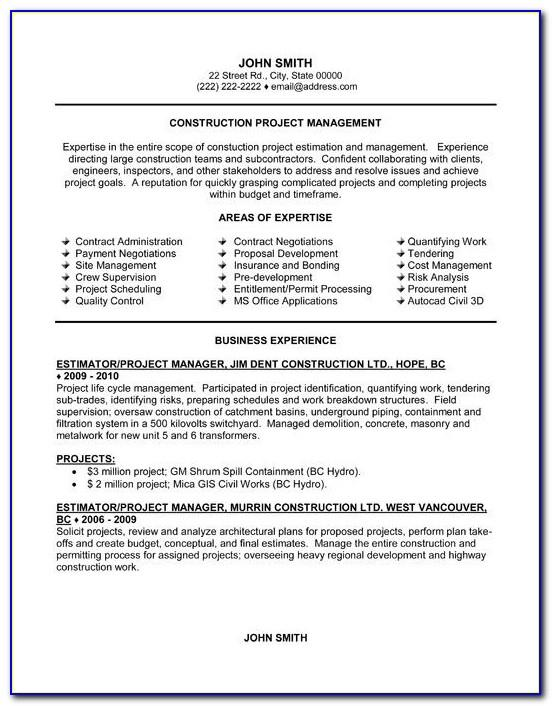 Best Resume Templates For College Graduates