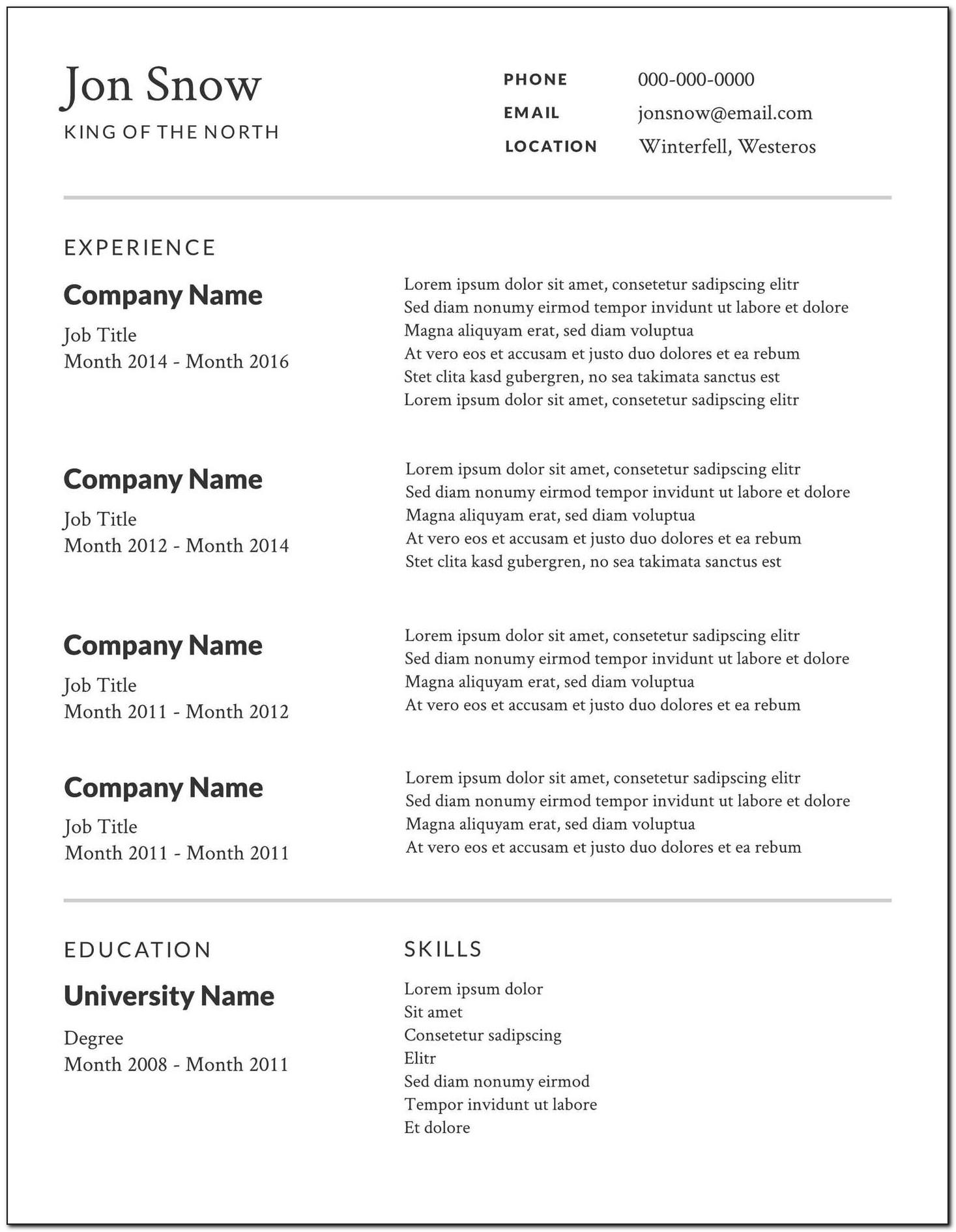 Best Resume Templates For Engineers