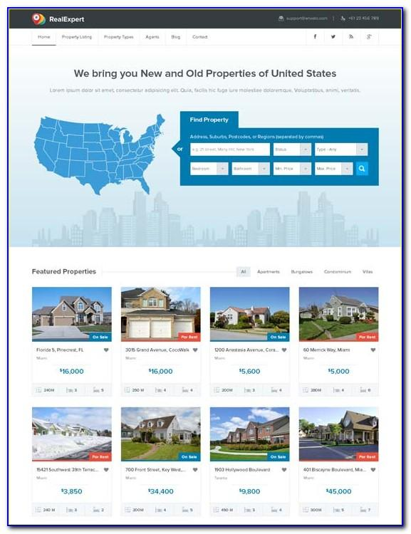 Bootstrap Responsive Real Estate Template Free Download
