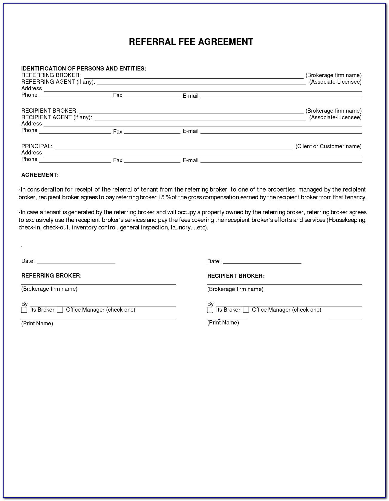 California Attorney Referral Fee Agreement Form