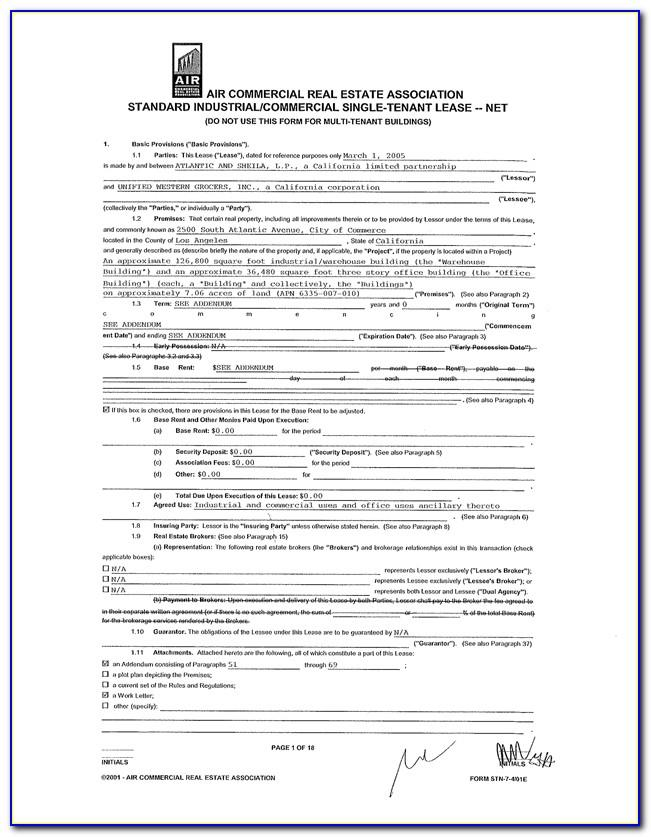 California Department Of Real Estate Residential Lease Agreement
