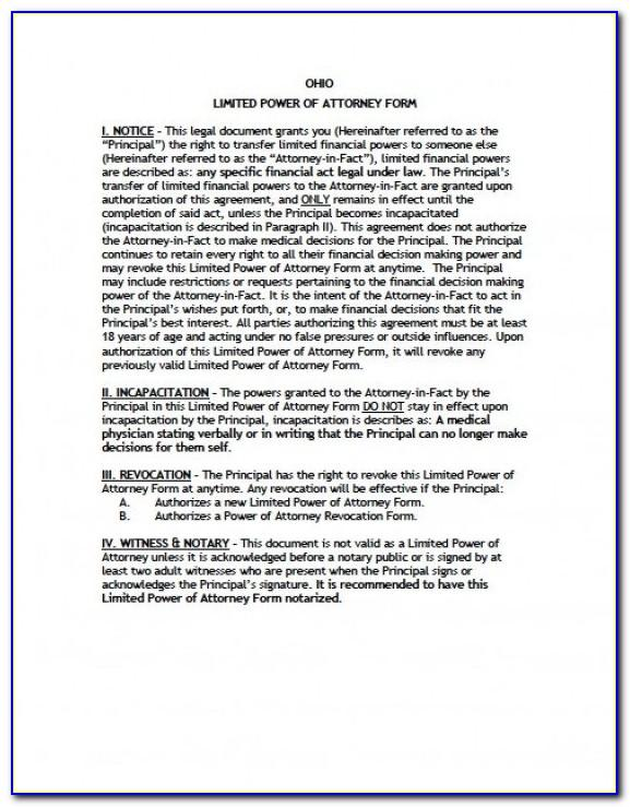 California Limited Power Of Attorney Form Real Estate