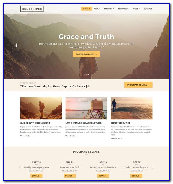 Christian Website Templates Free Download
