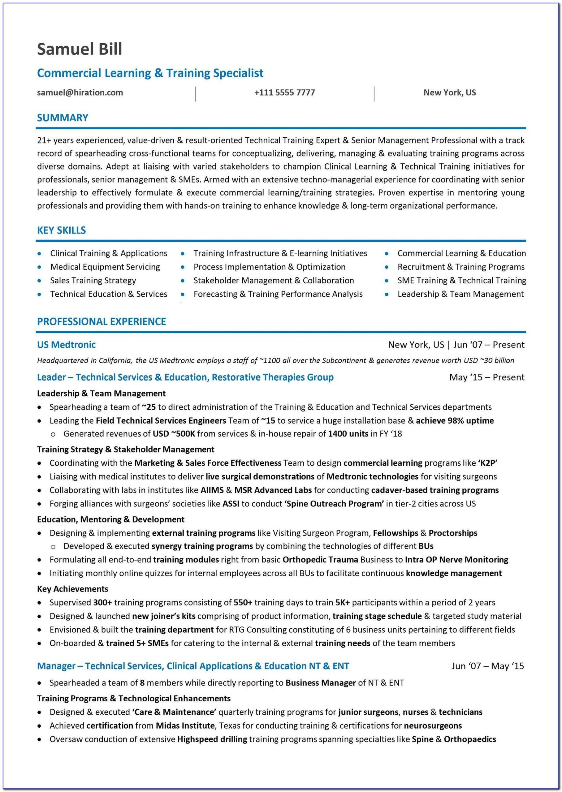 Combination Resume Sample Career Change
