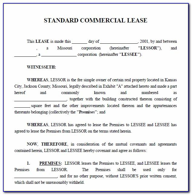 Commercial Real Estate Lease Agreement Florida