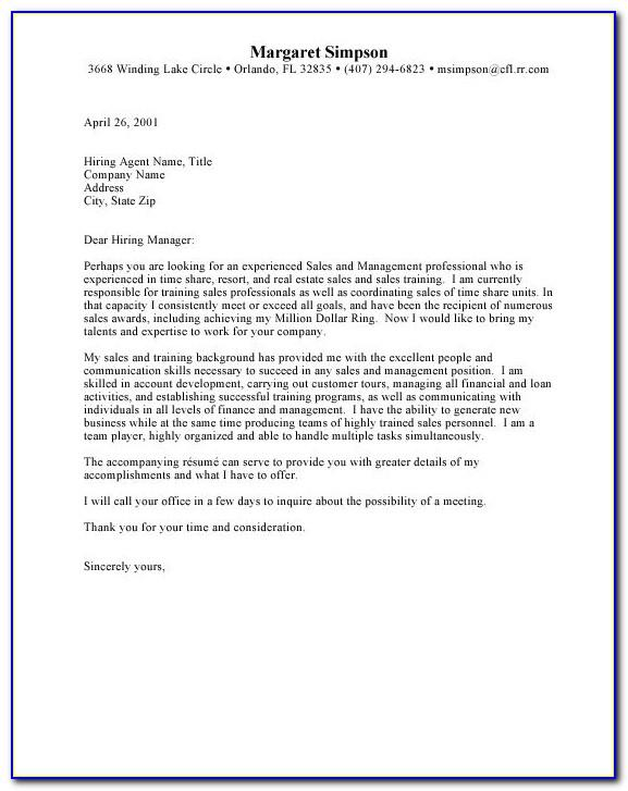 Commercial Real Estate Letter Samples