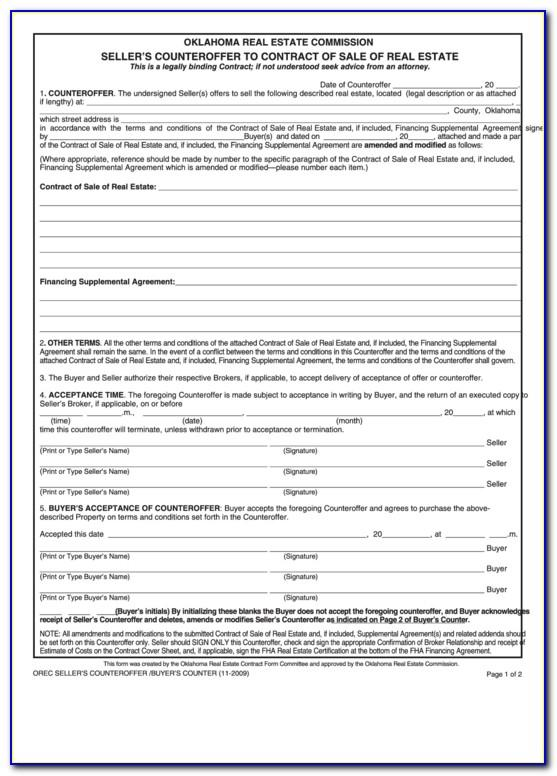 Commercial Real Estate Sale Contract Form